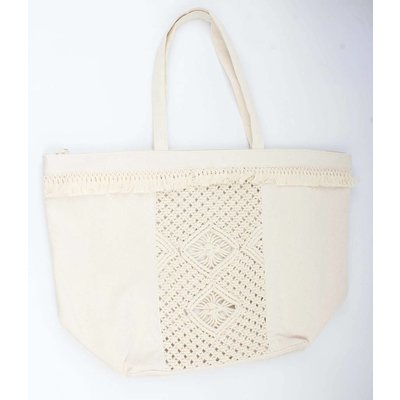 Shopper borduursel wit (611293)