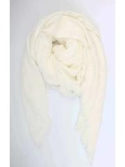 Vierkante sjaal uni wit