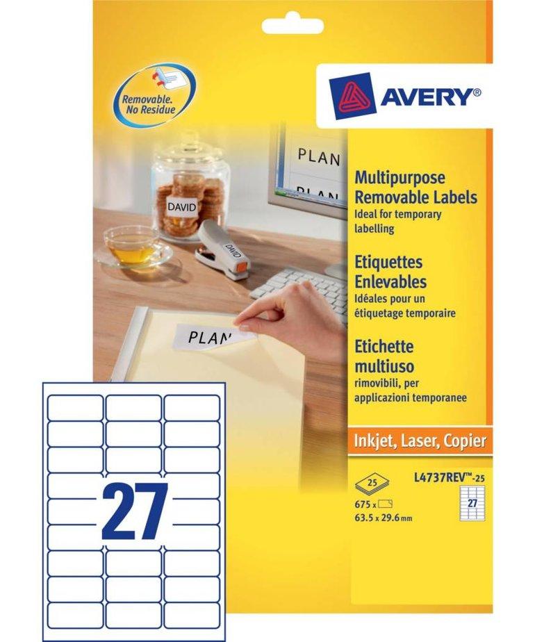 Avery L4737REV-25
