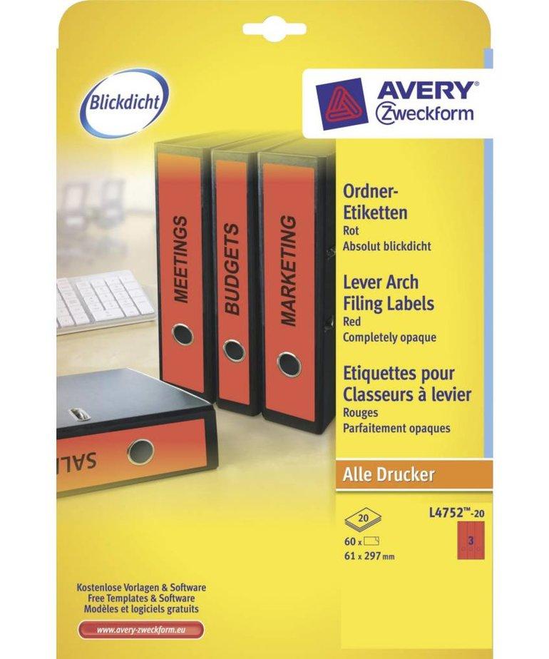 Avery L4752-20