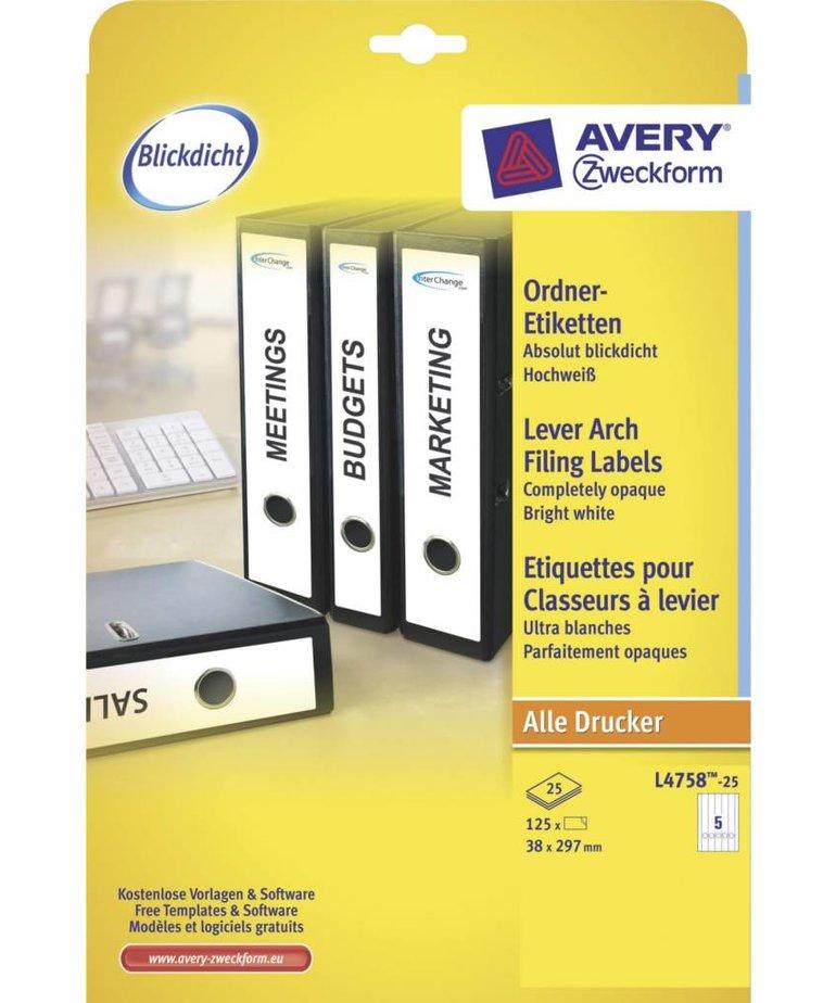 Avery L4758-25