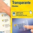 Transparante adresetiketten