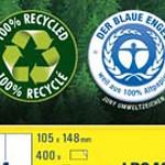 Recycled universele etiketten