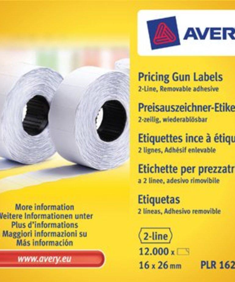 Avery PLR1626 verwijderbare prijstang etiketten, wit