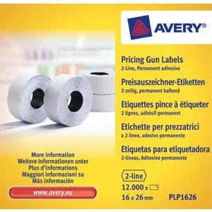 Avery PLP1626 permanente prijstang etiketten, wit
