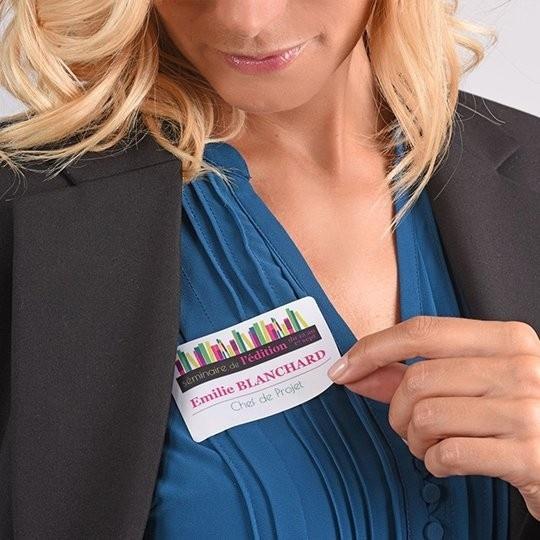 Zelfklevende naambadge-etiketten
