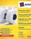 Avery PLP1226 permanente prijstang etiketten, wit