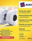 Avery PLR1226  afneembare prijstang etiketten, wit