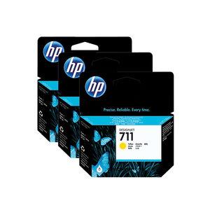HP 711 inktcartridge yellow - per 3 stuk (CZ136A)