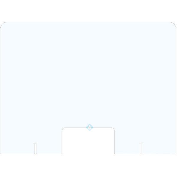 Plexiglas scherm staand met uitsparing- ECHT DIRECT LEVERBAAR