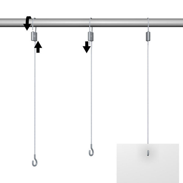 Hanging system steel wire loop / open hook
