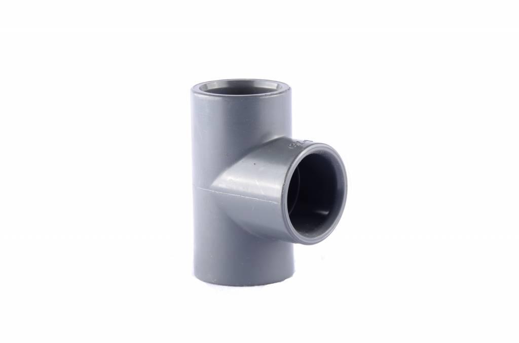 PVC T-stuk 20-16-20 mm