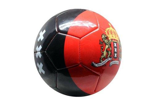 Bal Amsterdam leer middel rood met zwarte baan XXX