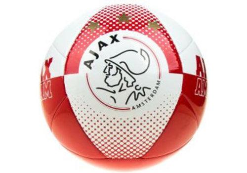 Ajax  Bal ajax leer groot wit/rood AFC