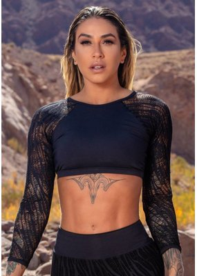 BOM FIT BRASIL Cropped Top Lace