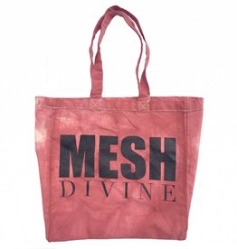 MESH DIVINE LOGO SHOPPER BURGUNDY