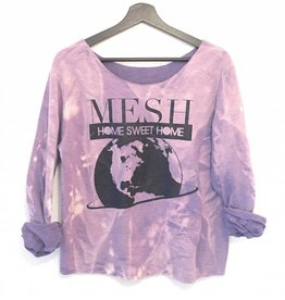 MESH DIVINE HOME SWEET HOME SWEATER ACID WASHED LILA
