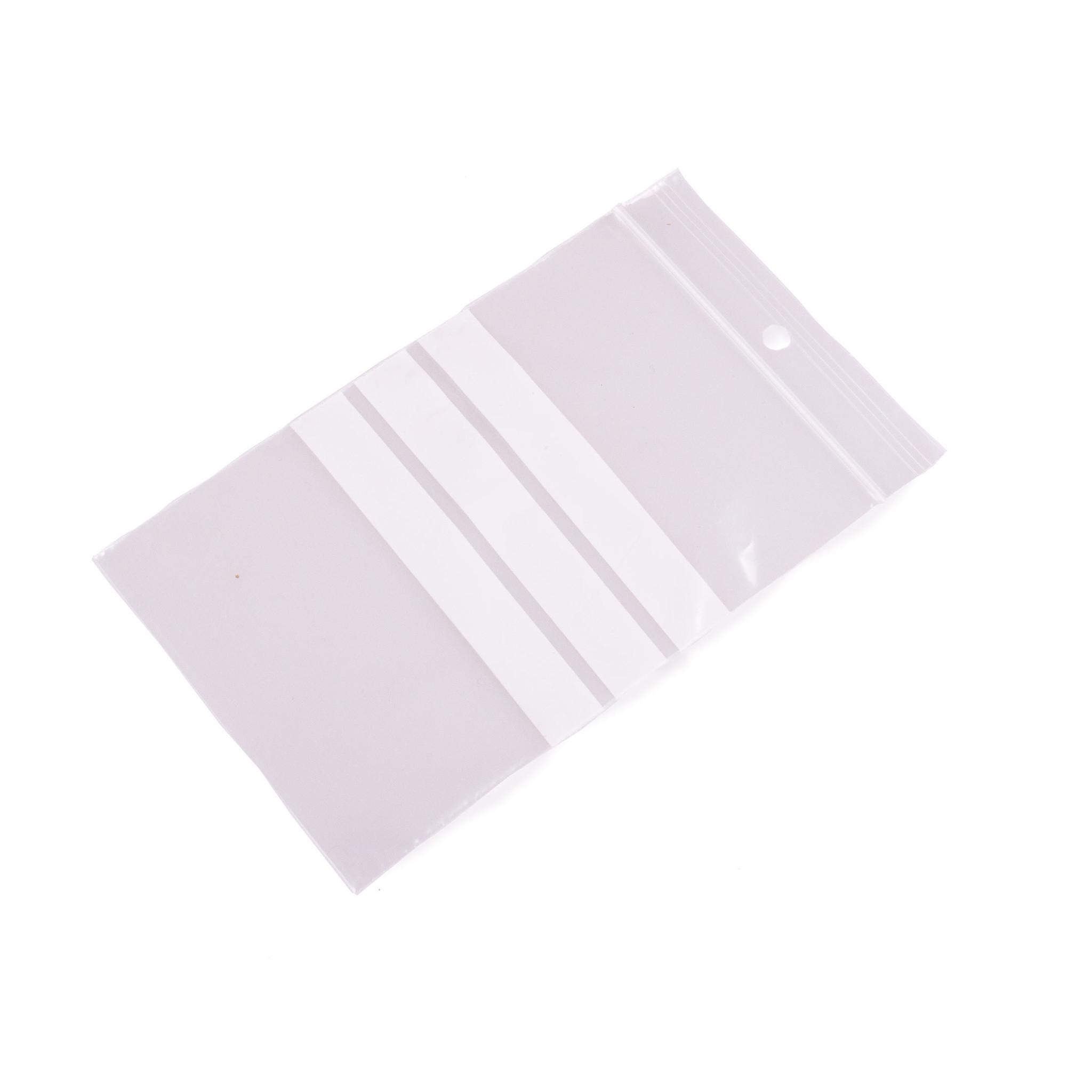 Gripzakken met schrijfvlakken extra sterk 190 x 250 mm uit 90 micron LDPE pakje van 100 stuks
