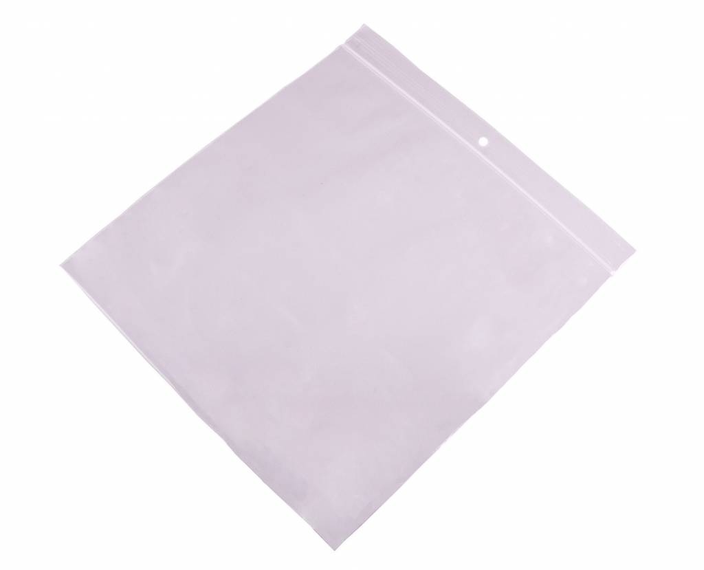 Gripzakken transparant 200 x 200 mm uit 50 micron LDPE pakje van 500 stuks