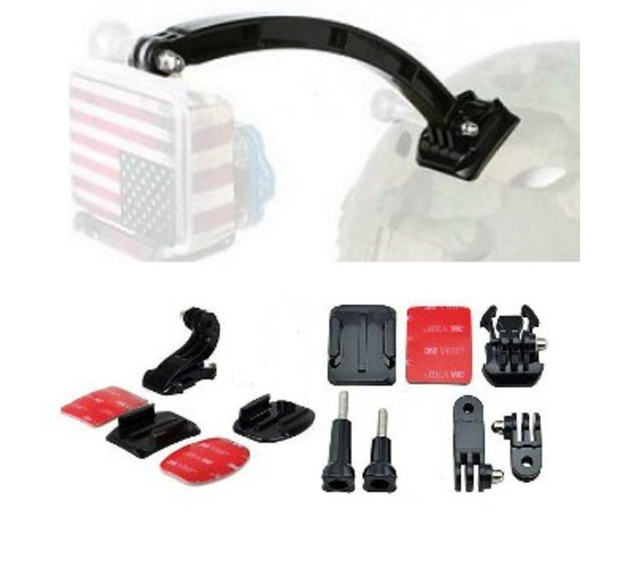 10 in 1 Complete GoPro Helmet Mount Kit voor GoPro Hero 3 4 5 – Outdoor Motor GoPro Accessoires Set