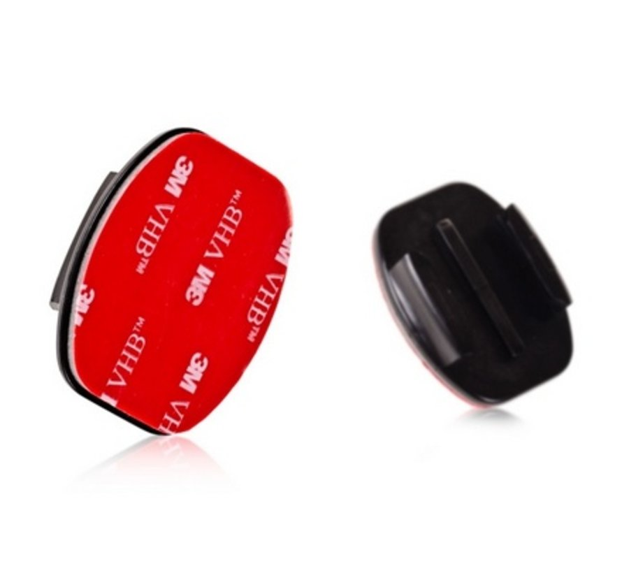 2 Flat en 2 Curved Adhesive mounts voor GoPro en meer sport cameras
