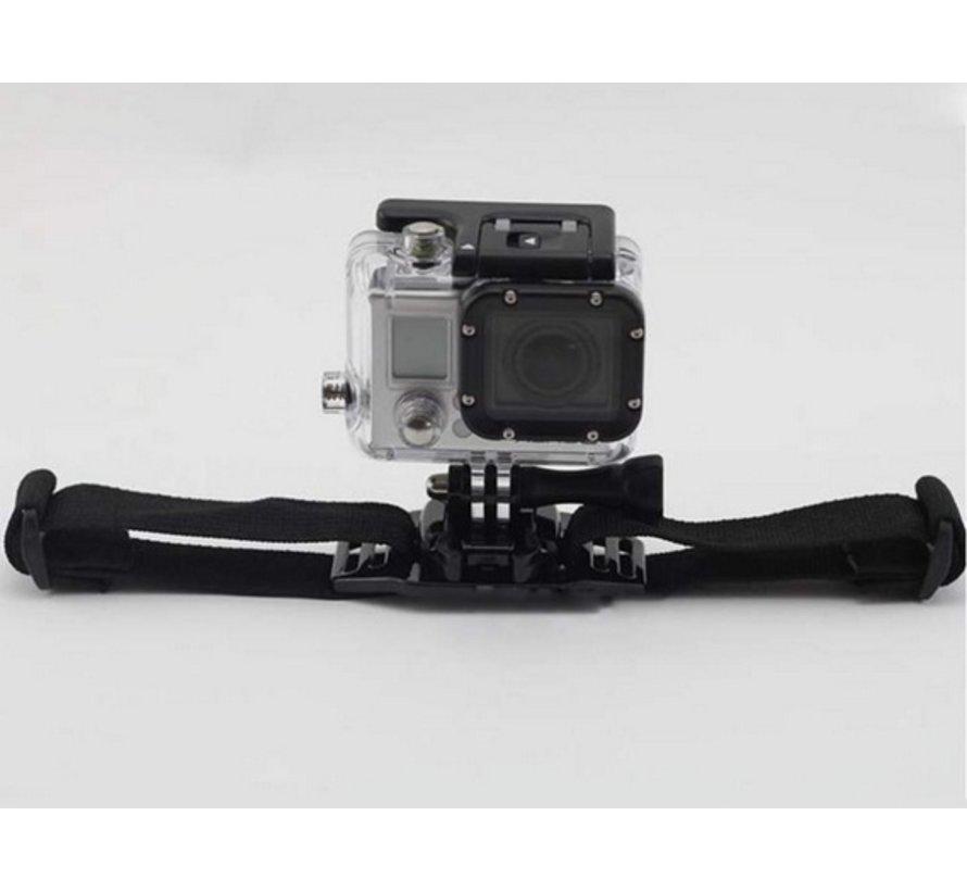 Helm Strap met baseplate mount voor GoPro en meer sport cameras