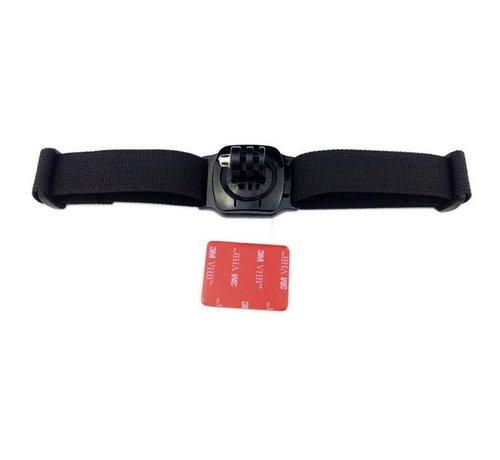 Helm Strap met 360 baseplate rotation mount voor GoPro en meer sport cameras