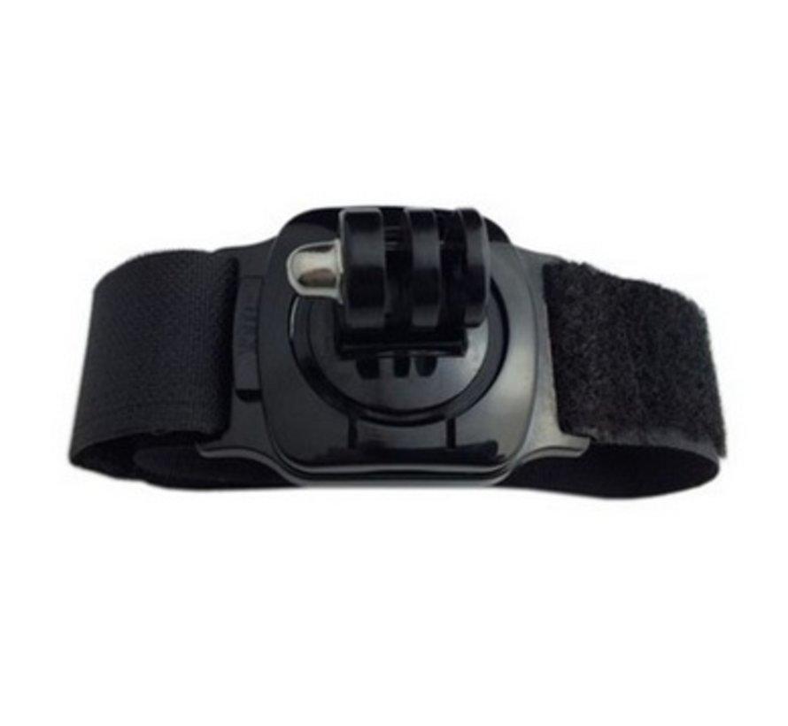 Wrist Arm Strap met 360 rotation mount voor GoPro en meer sport cameras