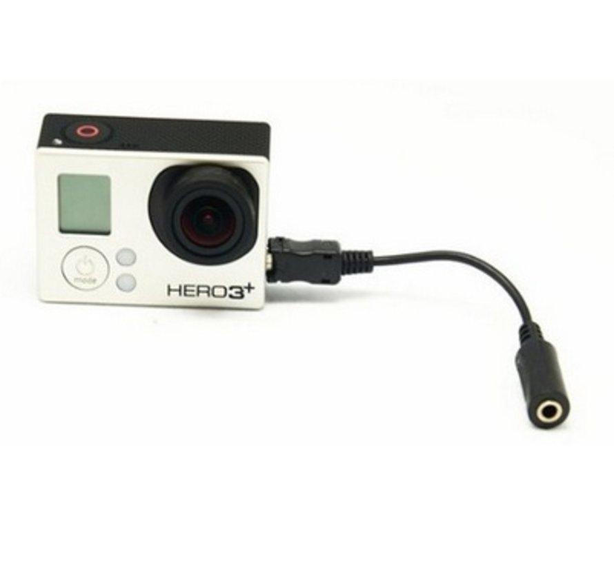 Microfoon Adapter 3.5mm voor GoPro Hero 3, 3+ en 4
