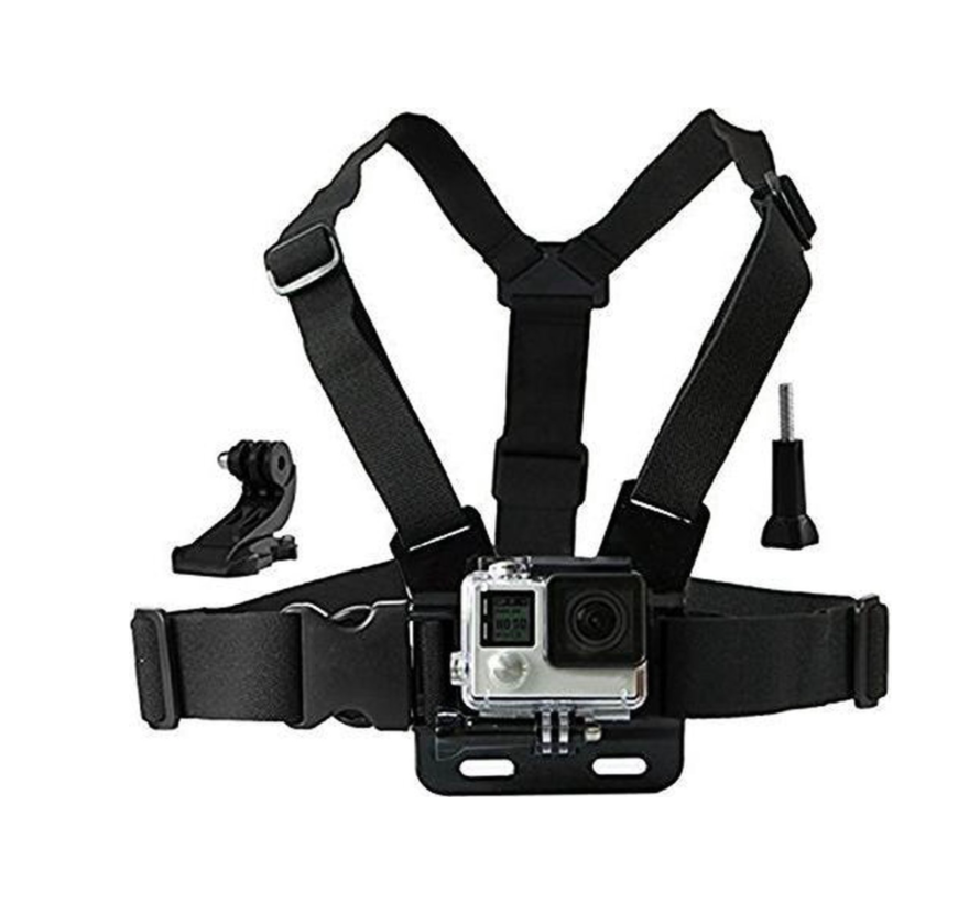 Chest Strap Harnas Mount voor GoPro en andere Action cams
