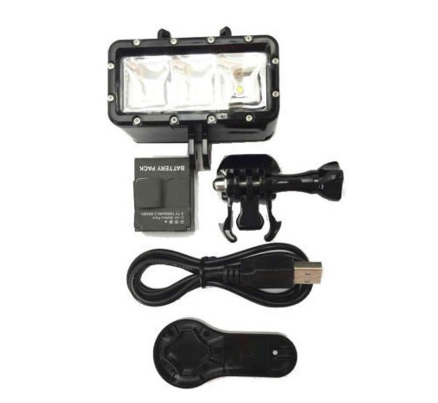 Diving Flash Light voor GoPro en andere Sportcams