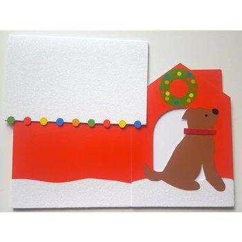 Weihnachtskarte Hundehütte 3D