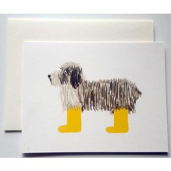 SALE Klappkarte Hund mit Gummistiefel