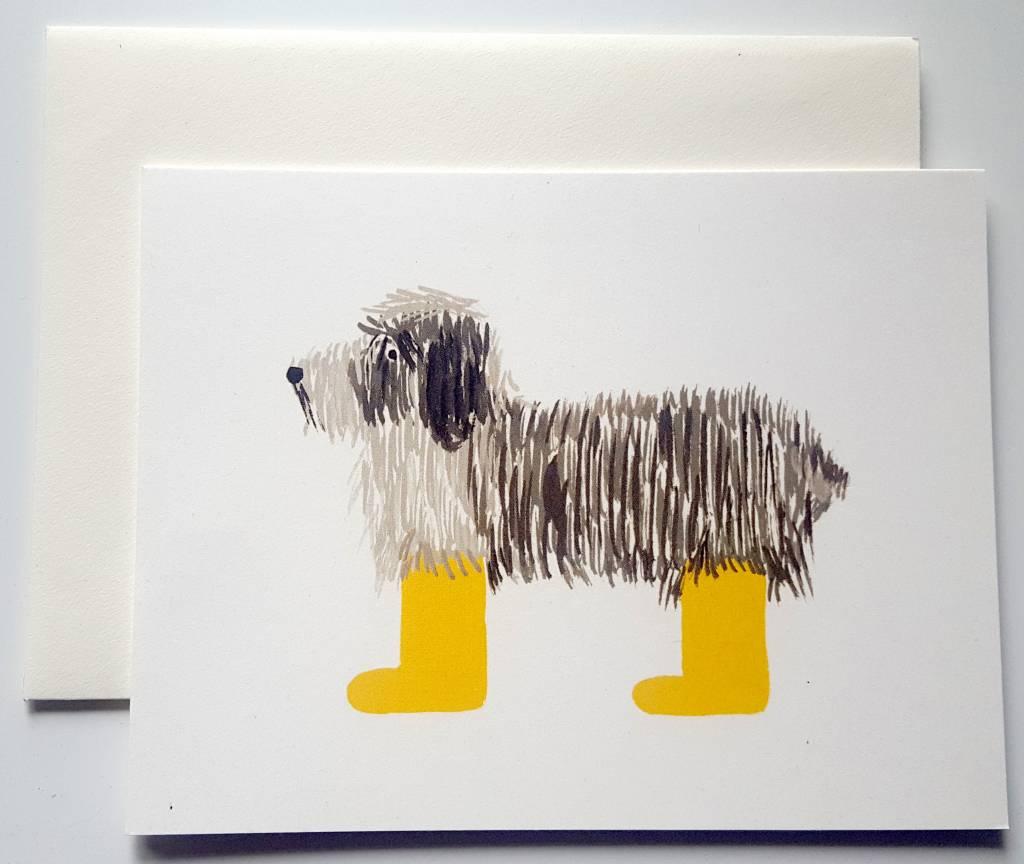 finest selection 65819 314b7 Klappkarte mit Hundezeichnung