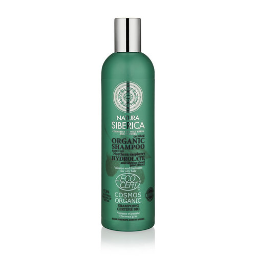 Natura Siberica Certified Organic Shampoo Volume And Freshness For Oily Hair 400ml.