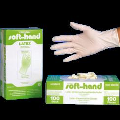 Latex handschoenen licht gepoederd - 100 stuks