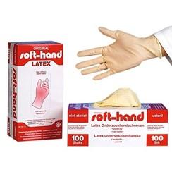 Latex handschoenen poedervrij - 100 stuks