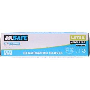 M-Safe Latex handschoenen gepoederd  100 stuks
