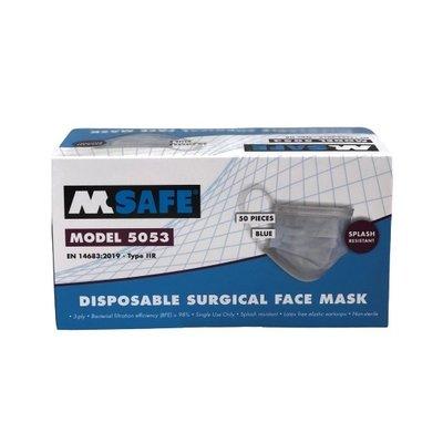 M-Safe Medisch Mondmasker 3-laags Type IIR verpakt per 50 maskers | Europees gecertificeerd