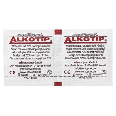 Alkotip Alcoholdoekjes met 70% isopropyl alcohol