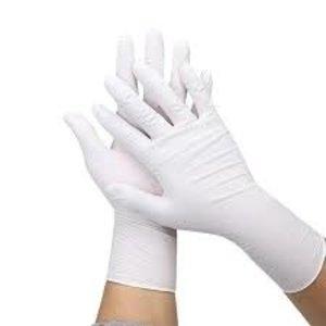 Eurogloves Latex handschoenen poedervrij | wit | 100  stuks