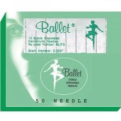 Ballet naalden RVS ongeisoleerd K4