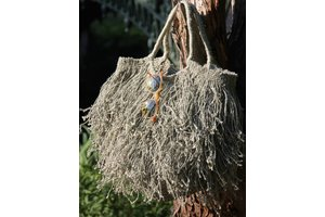 Fringed Bag, Gray