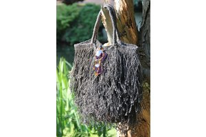 Fringed Bag, Black