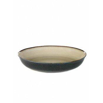 Anita Le Grelle, Pastaplate, D23,5 H4,5 Misty Grey/Dark Blue