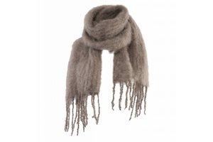 Mohair scarf, 20x160cm, Nutria