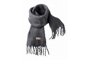 Mohair scarf, 20x160cm, Grey
