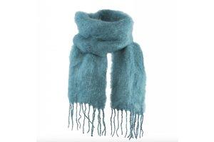 Mohair scarf, 35x160cm, Saxony Blue