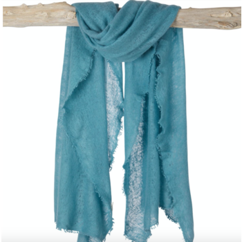 Sjaal  Open Knitted Semi Filted Cashmere