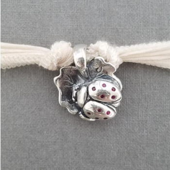 "Catherine Michiels Charm, ""Lola La Chance"", Silver"